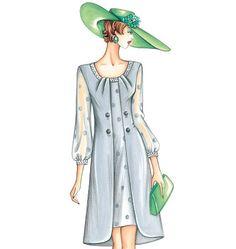 F3343 | Marfy Coat Dress | New Designs | Butterick Patterns