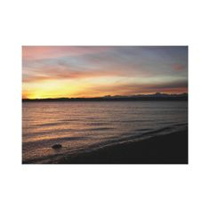 "Discovery Park Sunset Stretched Canvas Print - (18.76"" x 13.32"") $114.90"