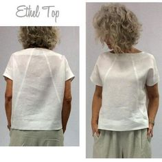 Ethel Designer Top - Sizes 26 - Women's boxy shaped top PDF Sewing Pattern by Style Arc - Sewing Project - Digital Pattern - Pdf sewing patterns - Pdf Sewing Patterns, Free Sewing, Clothing Patterns, Dress Patterns, Sewing Designs, Pattern Dress, Clothing Ideas, Couture Vintage, Make Your Own Clothes