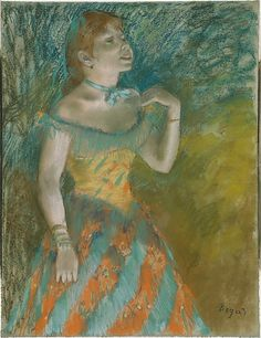 Edgar Degas (French,1834–1917). The Singer in Green, ca. 1884. The Metropolitan Museum of Art, New York. Bequest of Stephen C. Clark, 1960. (61.101.7)