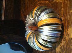 Canning jar ring pumpkin