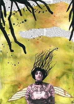ame-en-gravats-dechirure  (the banshee series published in sommerset studio) by Helene deroubaix (aka Mademoiselle Helenina)2007