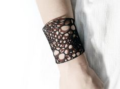 Voronoi bracelet #1 (MEDIUM) 3d printed Jewelry Accessories