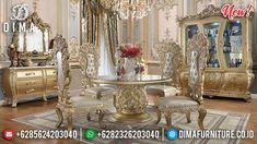 Jual Meja Makan Mewah Luxury Carving New Arabian Prince Style BT-0816