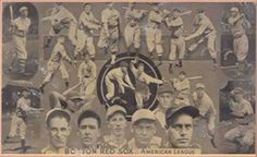 1935 Goudey Premiums R309-2 #1 Boston Red Sox Front