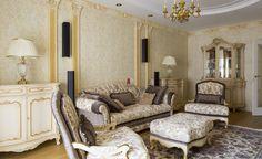 Смотрите сейчас на сайте более 5000 фото лучших интерьеров. Dontname.com. Богатый интерьер гостиной.