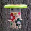 Bird Feeder from plastic jar & frisbee