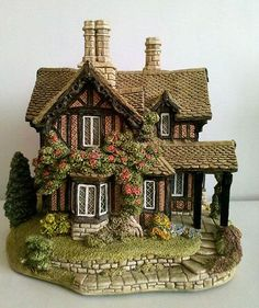 A miniature version of every cottage and structure of the castle. ...Chatsworth View (front) 1991