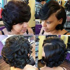Beautiful bob via 💖 Bump Hairstyles, Sweet Hairstyles, Creative Hairstyles, Wedding Hairstyles, Medium Hair Styles, Curly Hair Styles, Natural Hair Styles, Cut Life, Hair Tattoos