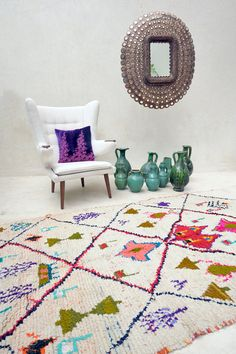 Vintage Moroccan rug from Pink Rug Co. https://www.etsy.com/listing/247286852/a-colorful-dialogue-crammed-with-4?ref=shop_home_active_2