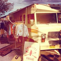 vintage ~ boho fashion camper- I MUST START A FASHION TRUCK!!