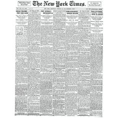 TimesMachine: New York Times front page 100 years ago | Doobybrain.com ❤ liked on Polyvore