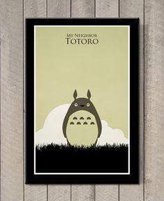 Hayao+Miyazaki+poster++My+Neighbor+Totoro+by+MINIMALISTPRINTS