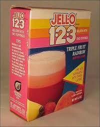 Jello 1-2-3. My mom made this