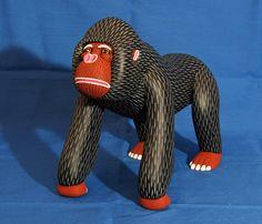 gorilla wood carving mexico by Teyacapan, via Flickr