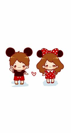 Love disney and anime! Cute Couples, Chibi, Mickey Mouse, Hello Kitty, Disney Characters, Fictional Characters, Daisy, Snoopy, Kawaii