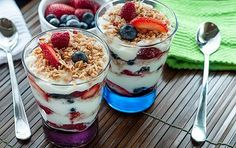 parfait with yogurt and #granola #mixmyown