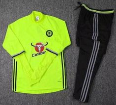 Green Chelsea FC 16-17 Season Training Soccer Sweat Suits  I60  Cheap  Football 9aa81d88b