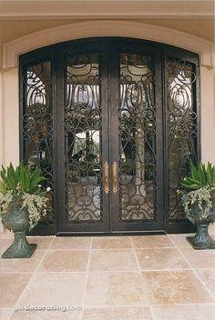 Hermosa puerta de herreria