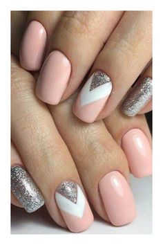 Manicure inspo Www.gelmo fb book an online party f Nageldesign Nail Art Nagellack Nail Polish Nailart Nails Cute Acrylic Nails, Acrylic Nail Designs, Gel Nails, Toenails, Glitter Nails, Coffin Nails, Nail Nail, Acrylic Art, Silver Glitter