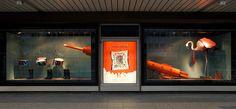 sarah illenberger recently decorated ten hermès shop windows at the kadewe department store.