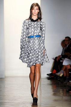 So clever! Peter Som zebra print dress.