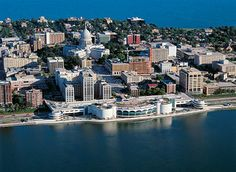 Aerial of Madison, Wisconsin