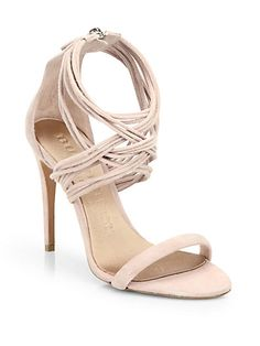Delabole Suede High-Heel Sandals - Zoom - Saks Fifth Avenue Mobile