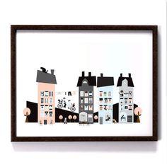 The Village, pastell 40x30cm