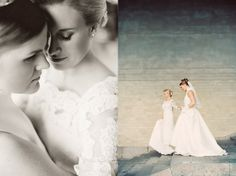 © Erika Gerdemark Photography. Gay wedding. This is a wonderful picture of two women getting married.
