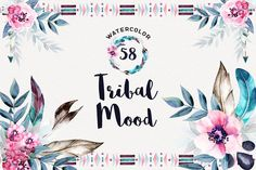 Watercolor Tribal Mood - Illustrations