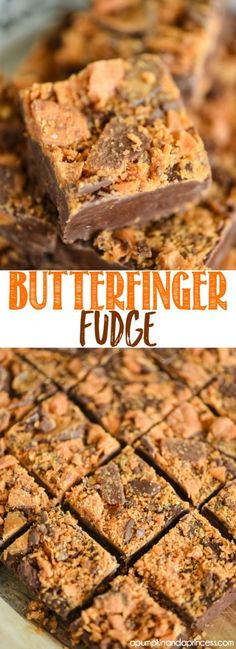 Butterfinger Fudge Recipe Butterfinger Fudge Recipe, Chocolate Fudge Recipes, Chocolate Smoothies, Chocolate Candies, Caramel Fudge, White Chocolate, Christmas Candy Bar, Christmas Recipes, Christmas Fudge