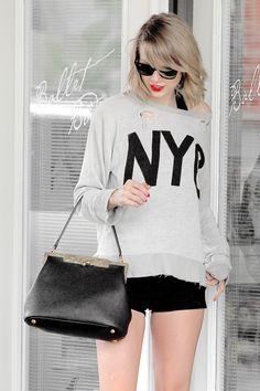 Tay Tay looking fabulous in a grungy sweatshirt fee4f7e2b6c