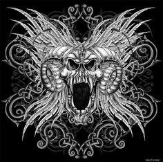 Skull Ram Head by Oblivion-design