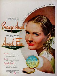 1948 Ponds Angel Face Make Up Vintage Advertisement Bathroom Wall Art Beauty Salon Bedroom Decor Original Magazine Print Ad Paper Ephemera by RelicEclectic on Etsy
