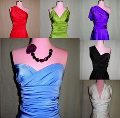 Royal Blue Infinity Convertible Wrap Dress... Bridesmaids, Special Occasion, Holidays, Prom, Beach, Honeymoon, Vacation. $90.00, via Etsy.
