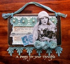A Penny for your Thoughts - great ATC and idea for a page