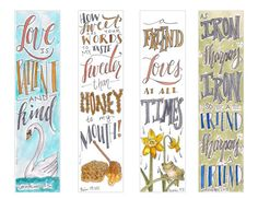 Friendship & Love themed Bible Bookmarks / Bible Journal Tag