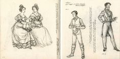 Ruddigore Sketchs by *Himmapaan  On the right side, Sir Ruthven Murgatroyd, first disguised as Robin Oakapple, then as the Baronet of Ruddigore.  Not sure who the two girls are.