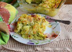 Tagliatelle con zucchine al forno