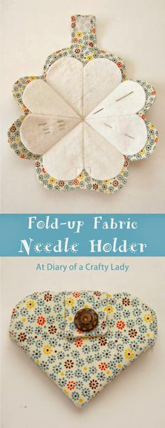 Diary of a Lady Crafty: Doblar-up Porta-agujas de Tela