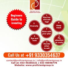 Beginners Guide to Investing Visit Us at: www.proficientgroup.in Or Call Us at: +91 9330354637