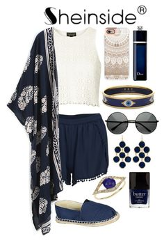 """""""Navy and Beige Cool Casual Outfit"""" by loveselena22 ❤ liked on Polyvore featuring Topshop, VILA, Refresh, Casetify, Towne & Reese, Halcyon Days, Jacquie Aiche, Butter London, Christian Dior and vintage"""