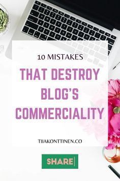 10 MISTAKES THAT DESTROY BLOG'S COMMERCIALITY I In this post, I'll go through 10 mistakes that destroy blog's commerciality. It has been a long time since just about anything was written on the blog, and blurry, dark pictures accompanied the text. So are you ready to find out the 10 mistakes that destroy blog's commerciality? #blogging #bloggingtips #profitable blog #tiiakonttinen Make Money Blogging, Make Money Online, How To Make Money, How To Start A Blog, How To Find Out, Dark Pictures, Blog Topics, Social Media Channels, Social Media Influencer