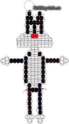 Lady Bug, Bumble Bee and Gecko Pony Bead Patterns