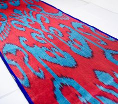 ikat table runner ikat table cloth ikat fabric by the by SilkWay