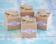 5 Ways To Style Kraft Favor Boxes from My Own Ideas blog #wedding #party #favor #diy #packaging #gift