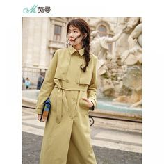 INMAN 2018 England Retro Style Turn Down Collar Show Waist With Belt Women Long Trench Coat  Price: 89.40 & FREE Shipping  #fashion #tech #home #lifestyle Trench Coats Women Long, Long Trench Coat, Retro Style, Retro Fashion, England, Tech, Free Shipping, Sport, Lifestyle