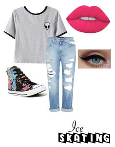 """Untitled #50"" by naominay ❤ liked on Polyvore featuring Chicnova Fashion, Genetic Denim, Converse and Lime Crime"