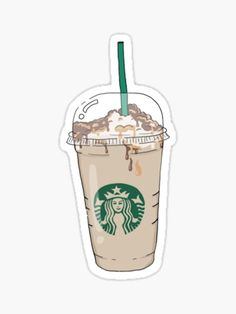 Starbucks stickers featuring millions of original designs created by independent artists. Homemade Stickers, Food Stickers, Anime Stickers, Tumblr Stickers, Journal Stickers, Diy Stickers, Scrapbook Stickers, Printable Stickers, Laptop Stickers